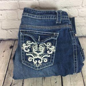 A.N.A rhinestone woman jeans boot cut size 18W